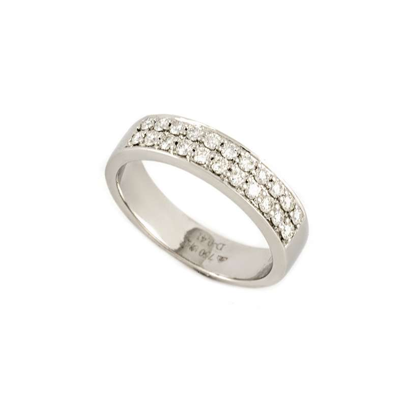 18k White Gold Diamond Set Half Eternity Ring 0.41ct